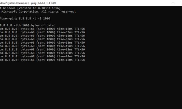 Cara Mengetahui Kecepatan Internet dengan CMD