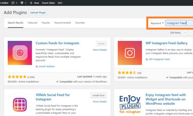 Tips memamerkan instagram di website